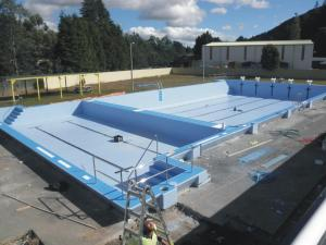 Outdoor pool construction